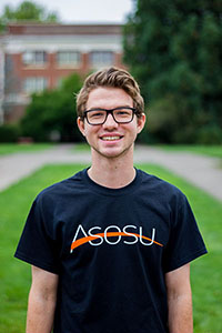 ASOSU Executive Director of Government Relations, Justin Bennett