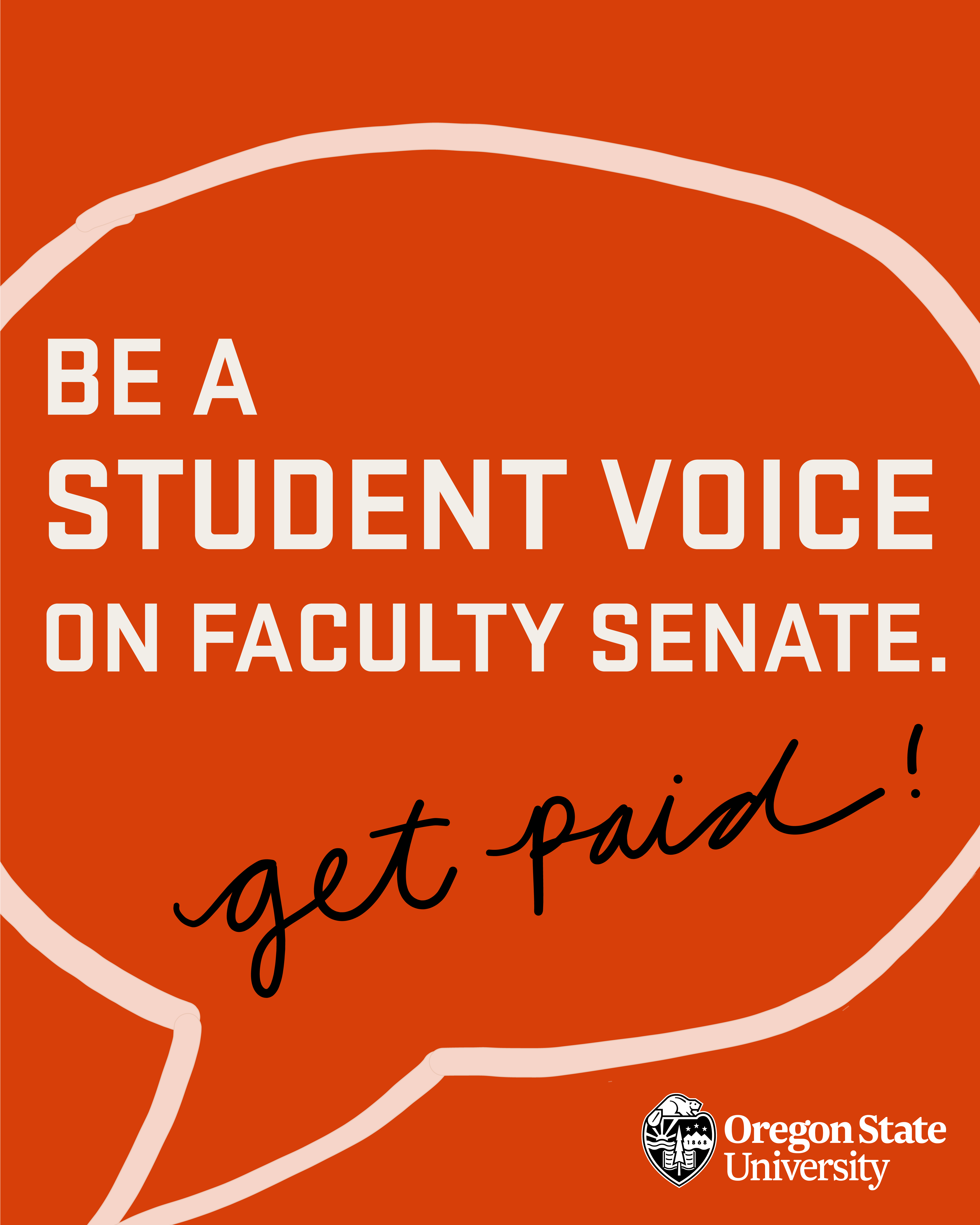 Be a student voice on Faculty Senate: Join Up!